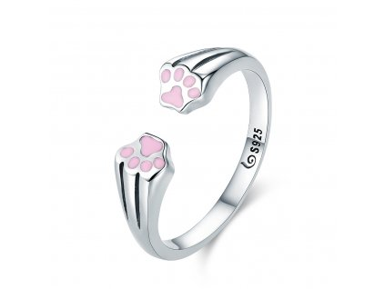 Stříbrný prsten RŮŽOVÉ TLAPKY od OLIVIE