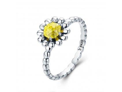 Stříbrný prsten SLUNEČNÝ KVĚT od OLIVIE