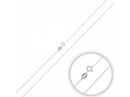 Stříbrný rhodiovaný řetízek HAD 45 cm, řetízek vhodný k přívěškům.