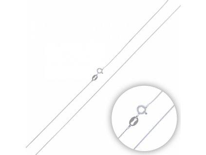 Stříbrný rhodiovaný řetízek HAD 40 cm