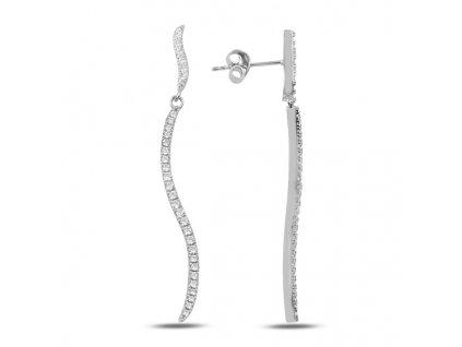 Stříbrné visací dlouhé náušnice