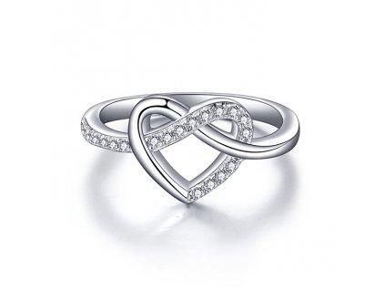 Stříbrný prstýnek NEKONEČNÉ SRDCE