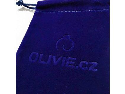 Modrý originální sametový pytlík OLIVIE na stříbrné šperky