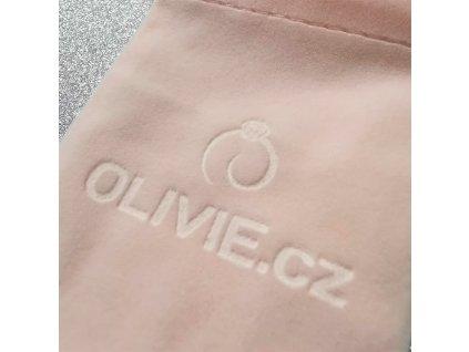 Sametový pytlík růžový na úschovu stříbrných šperků