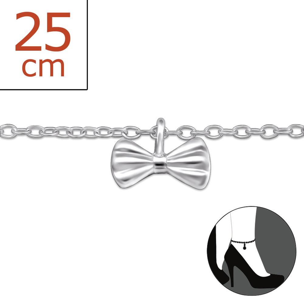 OLIVIE - Stříbrný řetízek na nohu MAŠLIČKA 0332
