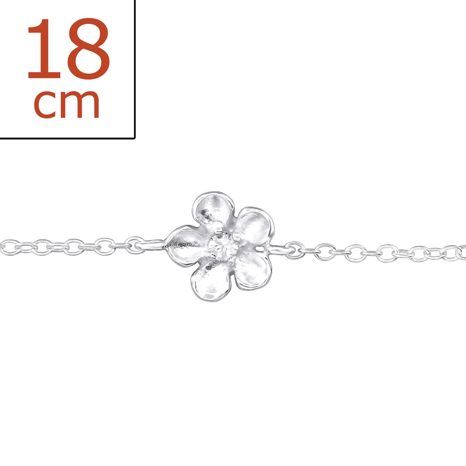 OLIVE Stříbrný náramek FLOWER 0346