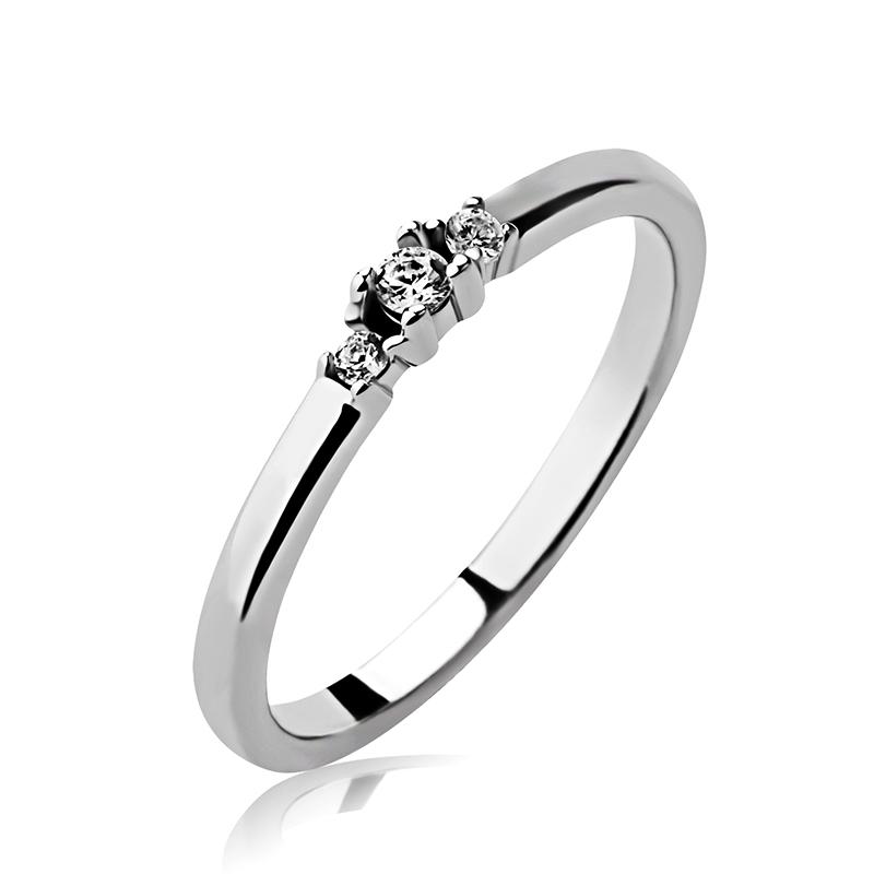 Levně Zásnubní prsten ze stříbra 3366 Velikost prstenů: 9 3/4 (EU: 61) Ag 925; ≤1,7 g.