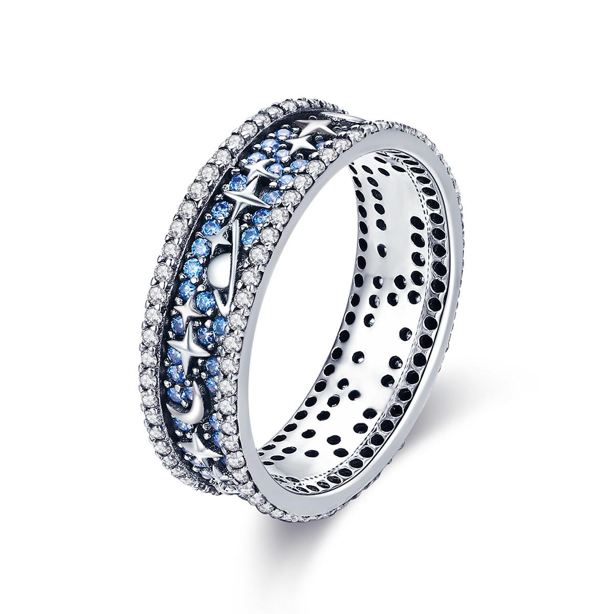 Levně Stříbrný prsten HVĚZDNÁ OBLOHA 3391 Velikost prstenů: 7 (EU: 54 - 56) Ag 925; ≤3,4 g.