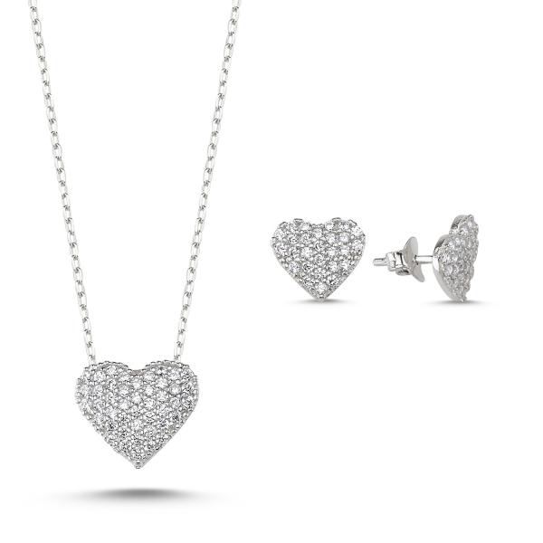 OLIVIE Sada stříbrných šperků SRDCE 3427