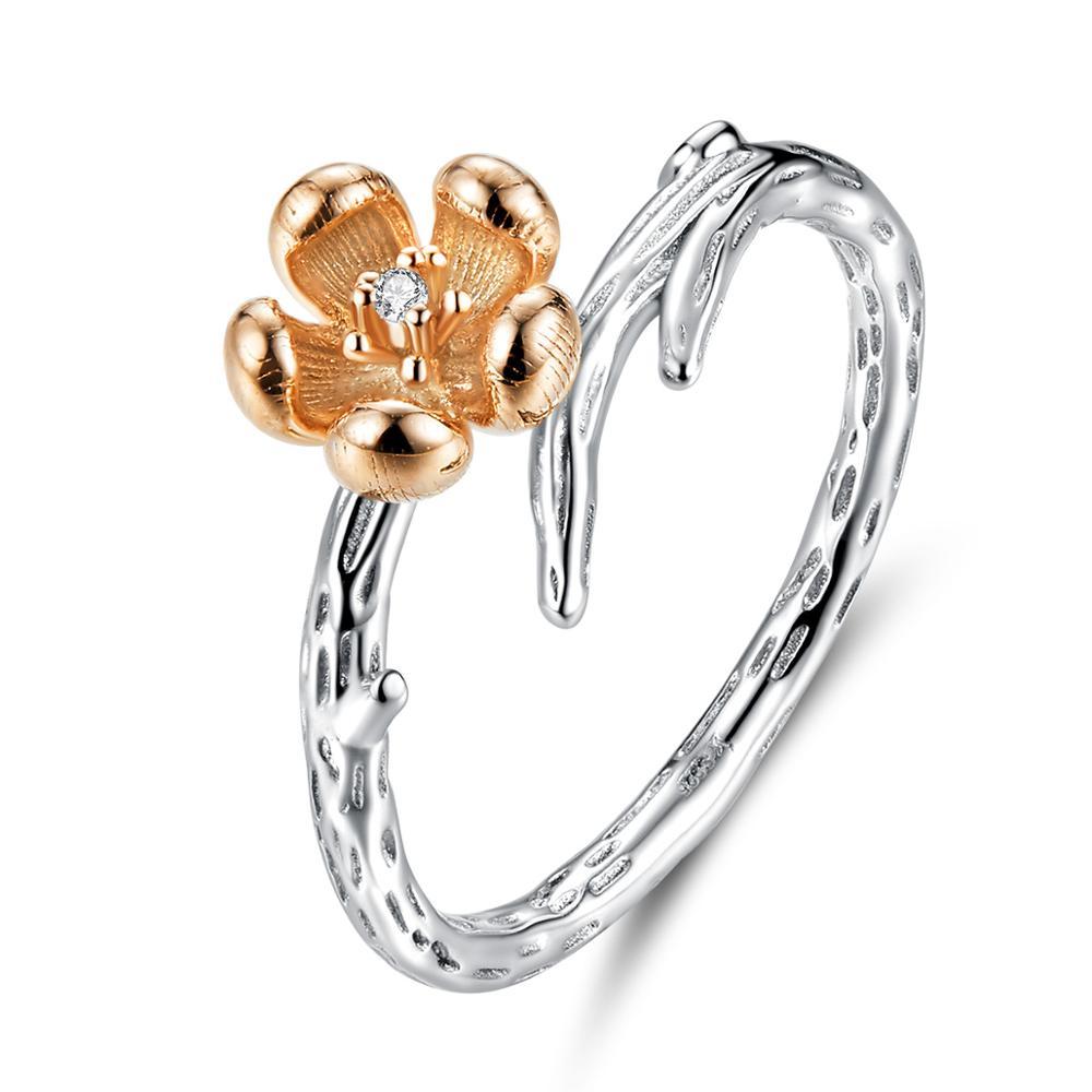OLIVIE Stříbrný prsten MĚDĚNÁ RŮŽE 3444 Velikost prstenů: 6 (EU: 51 - 53)