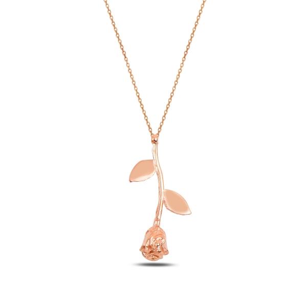 OLIVIE Stříbrný náhrdelník ROSE RŮŽE 3458