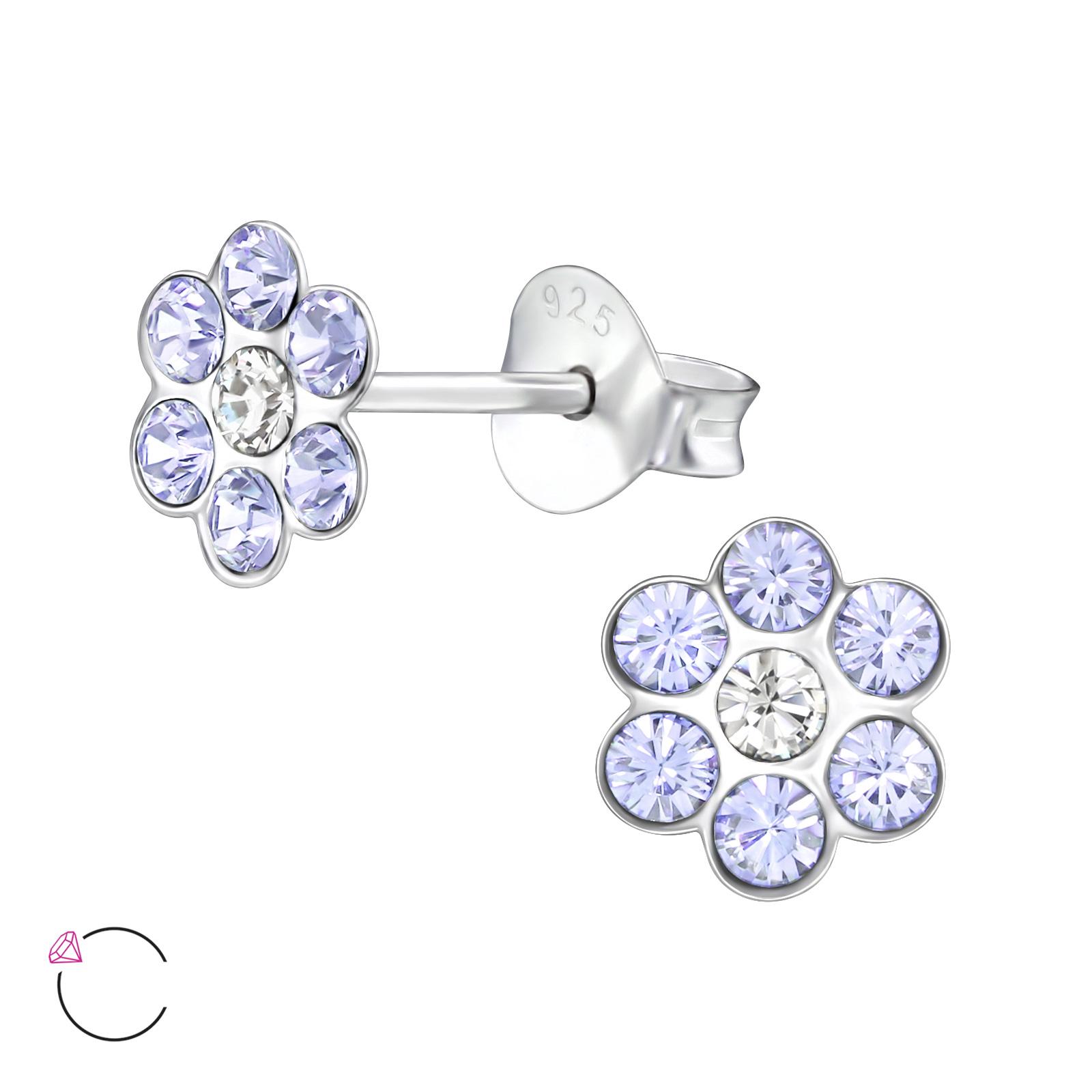 OLIVIE Dětské stříbrné náušnice FLOWER 0397