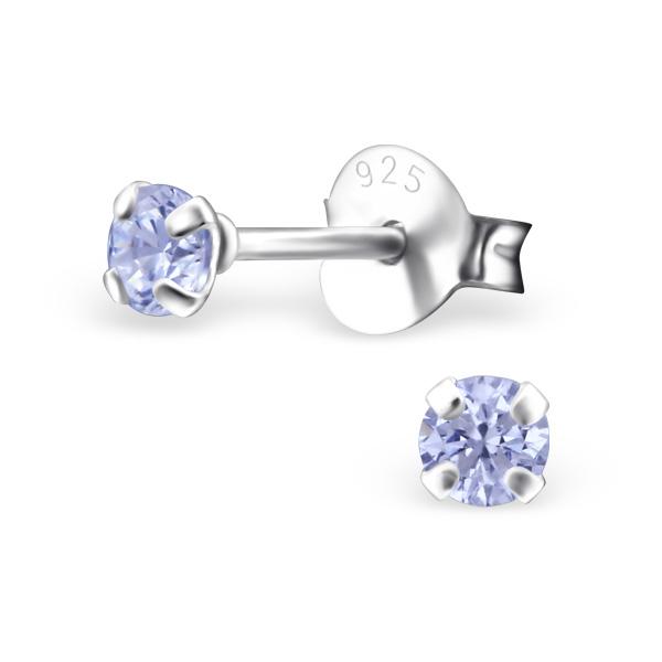 OLIVIE Stříbrné krystalkové náušnice 0416