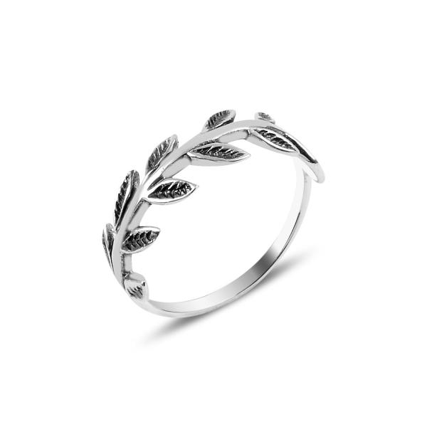 Levně Stříbrný prstýnek LÍSTKY Z RŮŽÍ 3908 Velikost prstenů: 9 (EU: 59-61) Ag 925; ≤1,5 g.