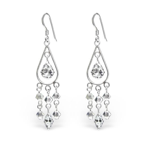 OLIVIE - Stříbrné náušnice se Swarovski® krystaly 0442