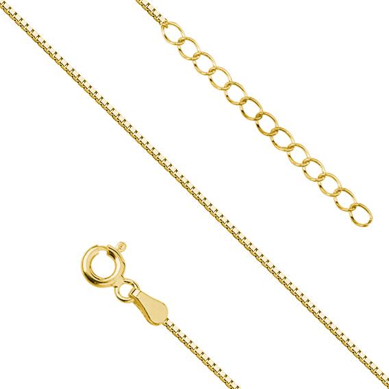 Levně Stříbrný řetízek GOLD na nohu 4264 Ag 925; ≤1,1 g.