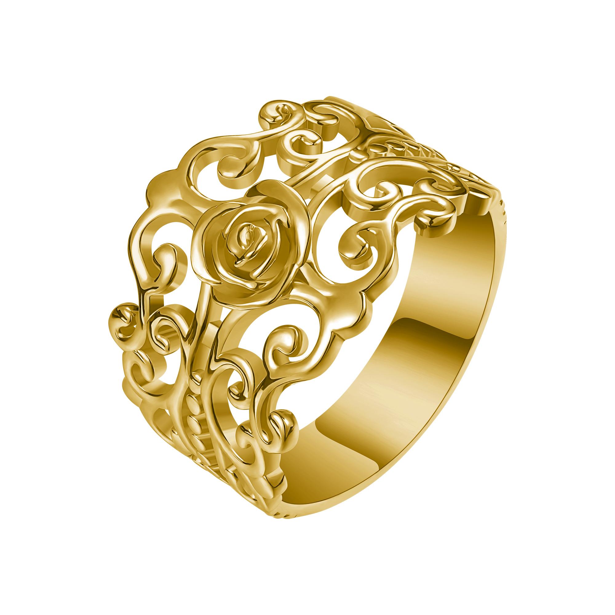 Levně FILIGRÁN stříbrný prsten 4300 Velikost prstenů: 8 (EU: 57-58), Barva: Zlatá Ag 925; ≤3,4 g.