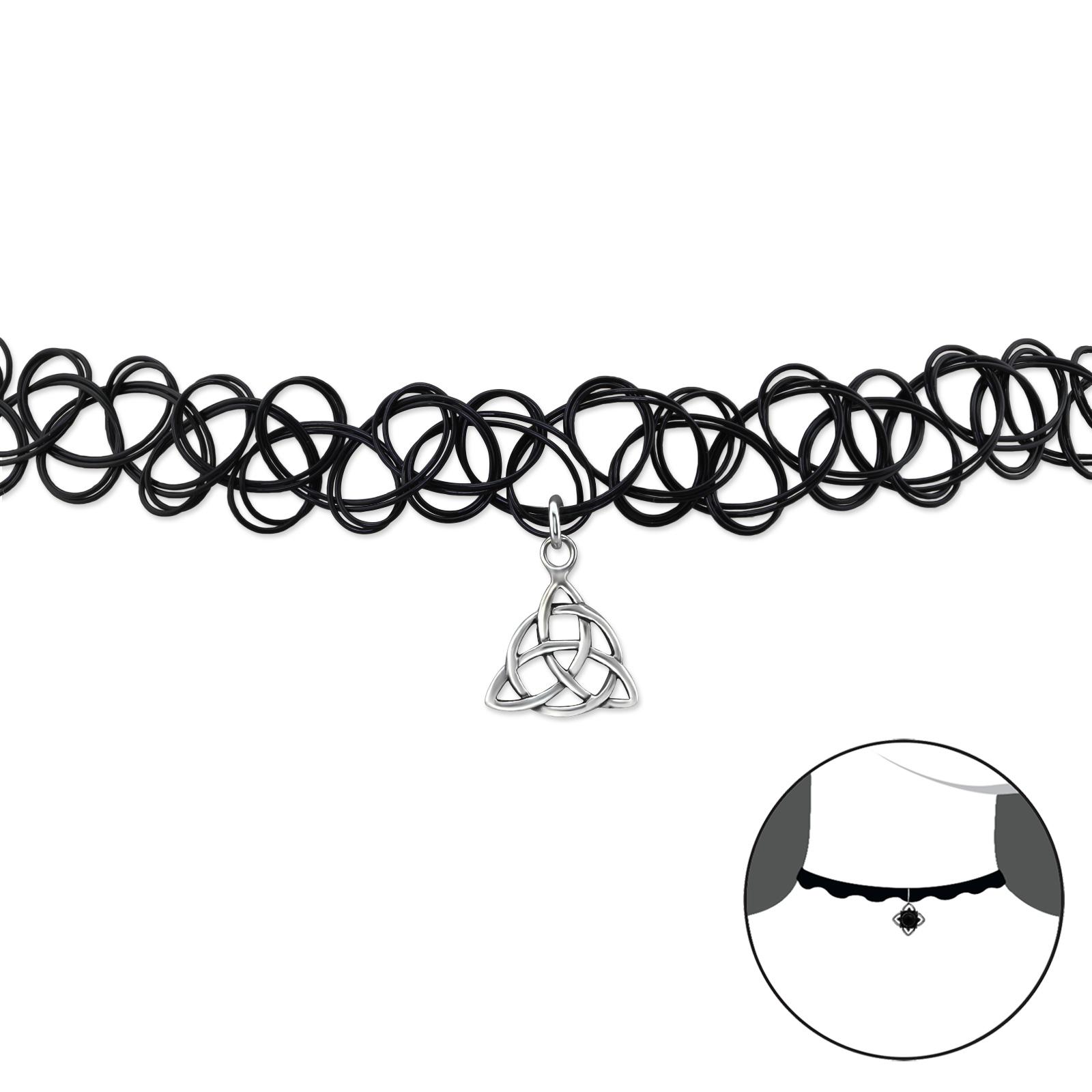 OLIVIE CHOKER náhrdelník stříbrný keltský vzor 0500