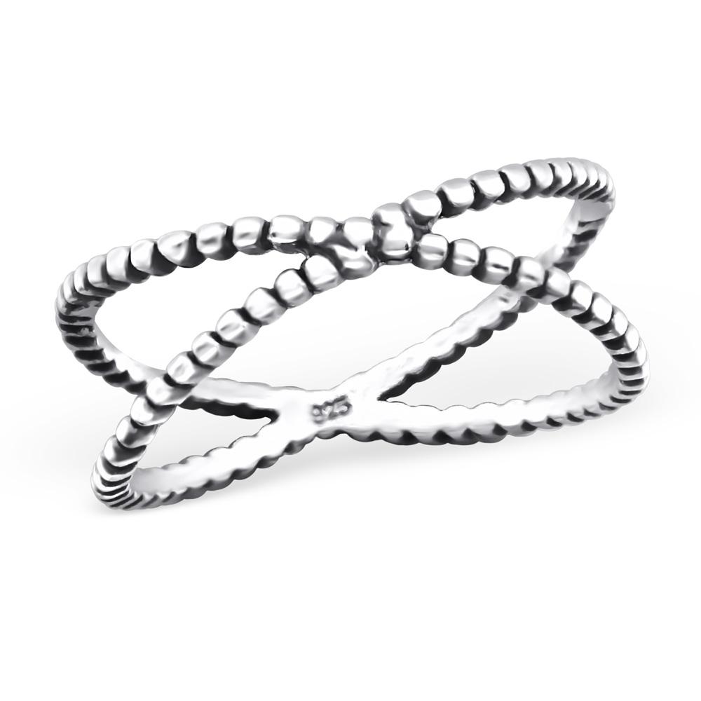 OLIVIE Stříbrný prsten KŘÍŽEK 0655 Velikost: 5