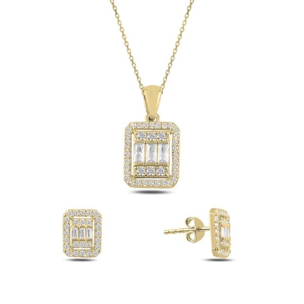 OLIVIE Sada stříbrných šperků GOLD 4796