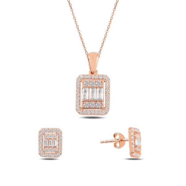 OLIVIE Sada stříbrných šperků ROSE 4798