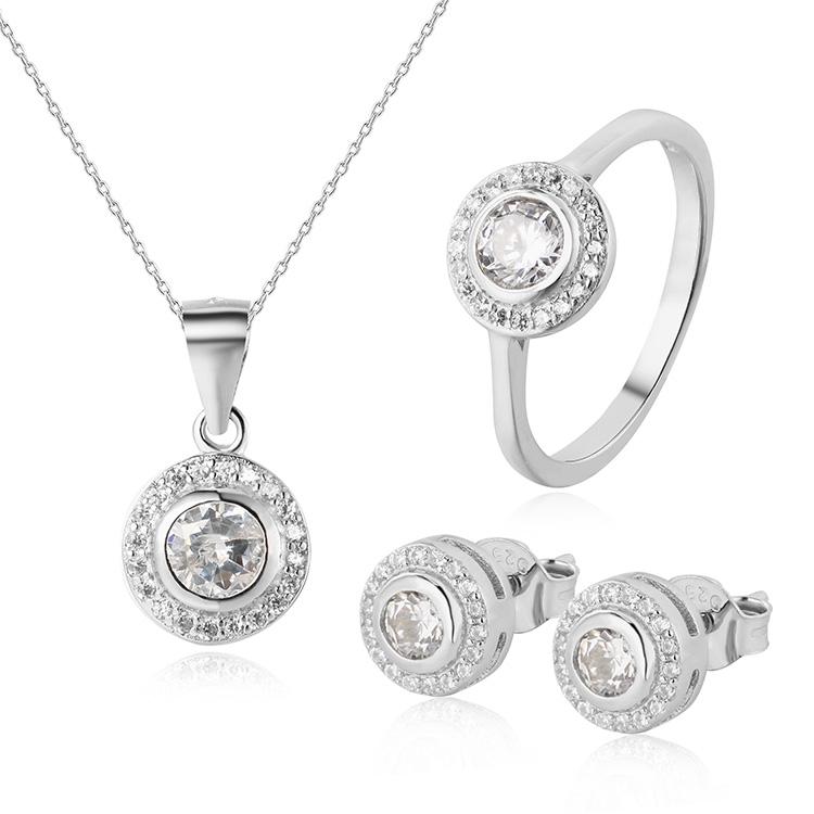 OLIVIE Stříbrná sada šperků 4859 Velikost prstenů: 5 (EU: 49-50)