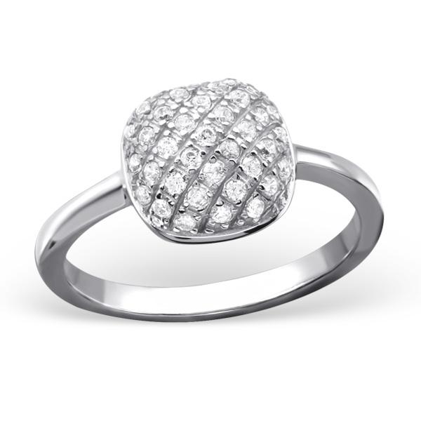 OLIVIE Stříbrný čtvercový prsten 0678 Velikost: 8 (EU: 57 - 58)