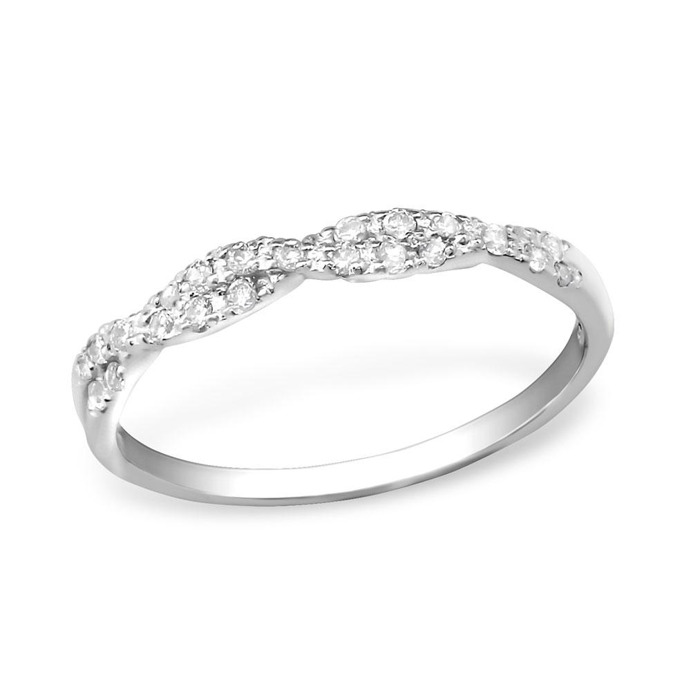 OLIVIE Stříbrný zakroucený prsten 0676 Velikost: 7 (EU: 54 - 56)