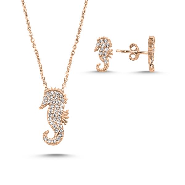 OLIVIE Sada šperků MOŘSKÝ KONÍK ROSE 4981