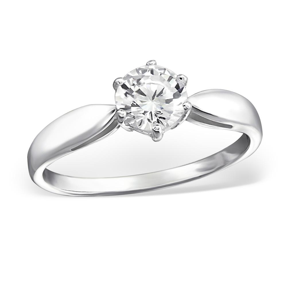 OLIVIE Stříbrný zásnubní prsten 0680 Velikost: 6