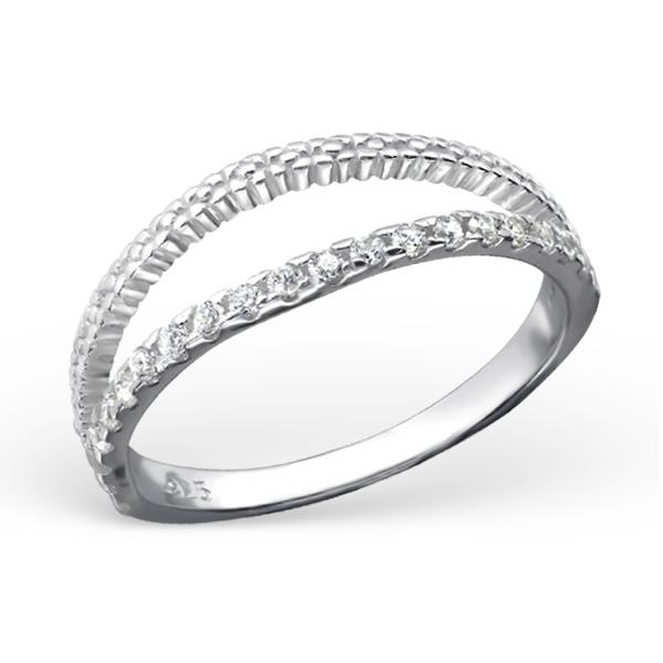 OLIVIE Stříbrný vzorovaný prsten 0681 Velikost: 8 (EU: 57 - 58)