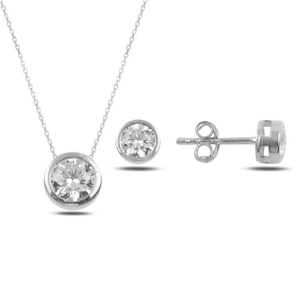 OLIVIE Sada stříbrných šperků ZIRKON 5006