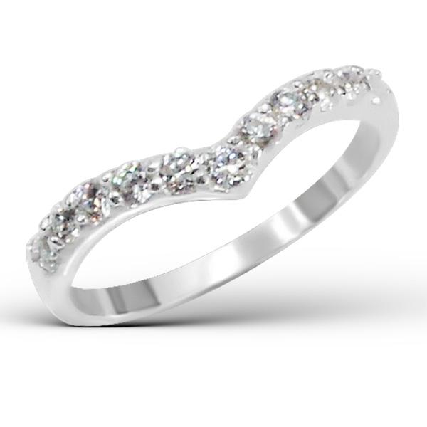 OLIVIE Stříbrný prsten SRDCE 0683 Velikost: 7 (EU: 54 - 56)