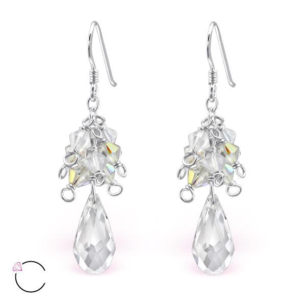 OLIVIE Stříbrné náušnice se Swarovski® krystaly 0633