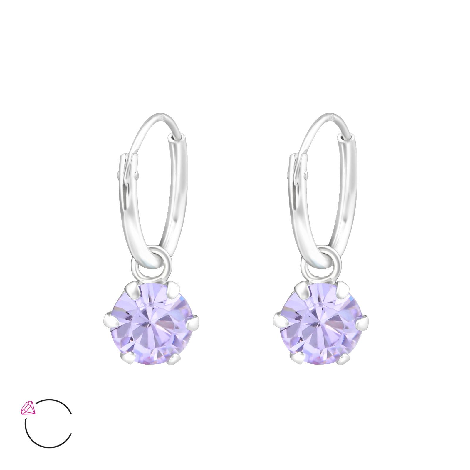OLIVIE Stříbrné náušnice se SWAROVSKI® krystaly 0710