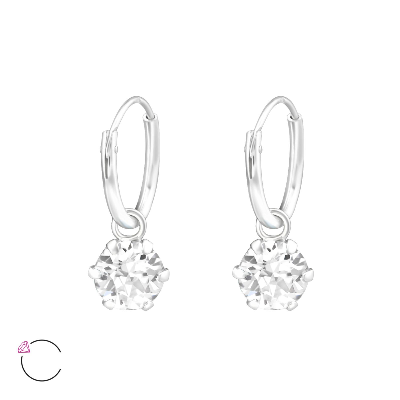 OLIVIE Stříbrné náušnice se SWAROVSKI® krystaly 0712