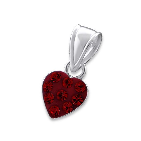 OLIVIE Dětský stříbrný přívěsek SRDÍČKO RED 0794 f99c11c9d40