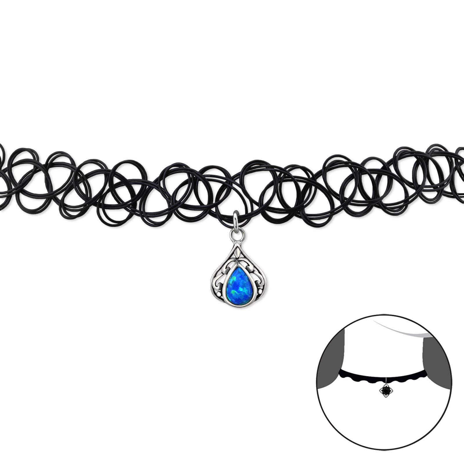 OLIVIE - CHOKER náhrdelník SLZA OPAL 0078