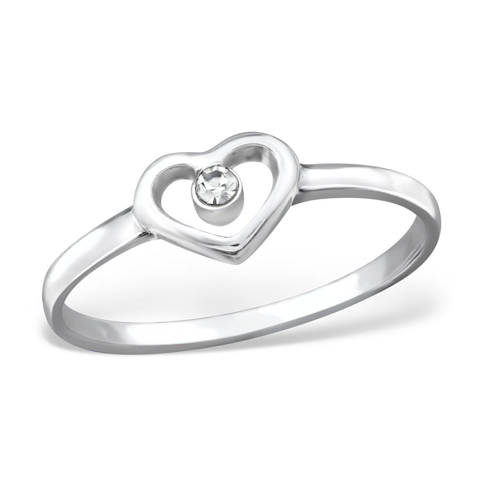 OLIVIE Stříbrný prsten SRDÍČKO 0952 Velikost: 8 (EU: 57 - 58)