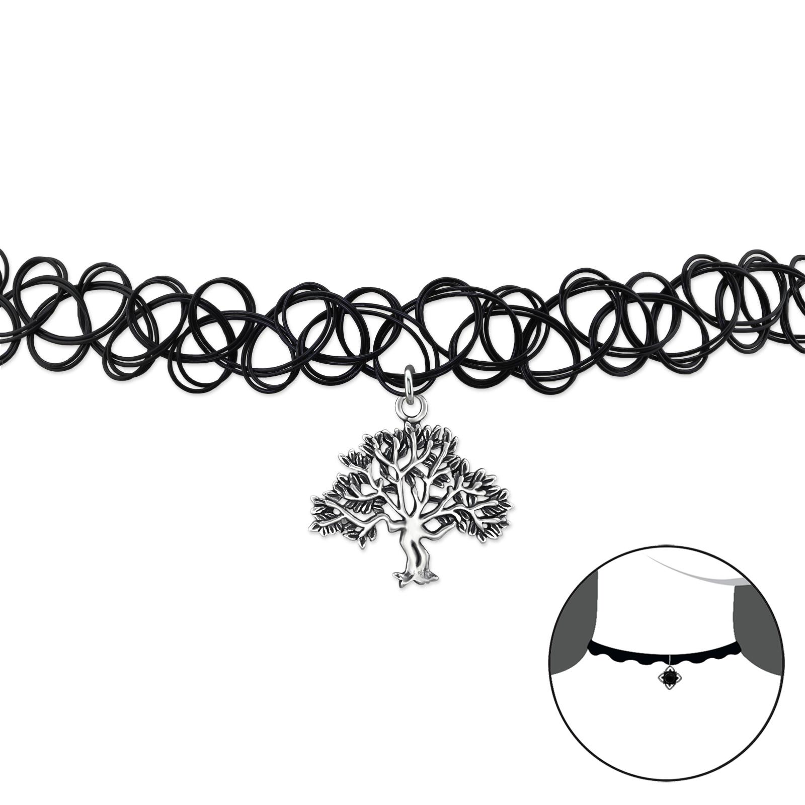 OLIVIE - CHOKER náhrdelník STROM ŽIVOTA 0079