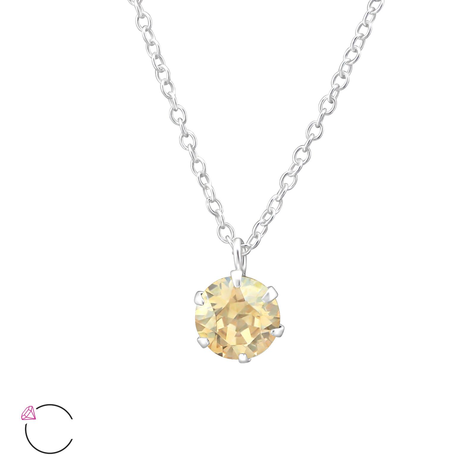 OLIVIE Stříbrný náhrdelník s krystaly Swarovski® 0975