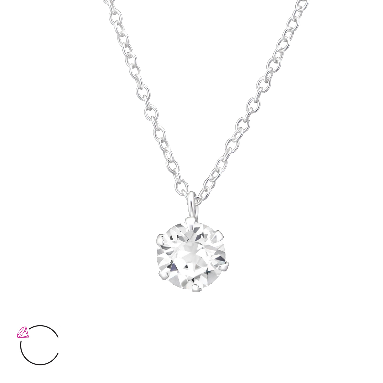 OLIVIE Stříbrný náhrdelník s krystaly Swarovski® 0977