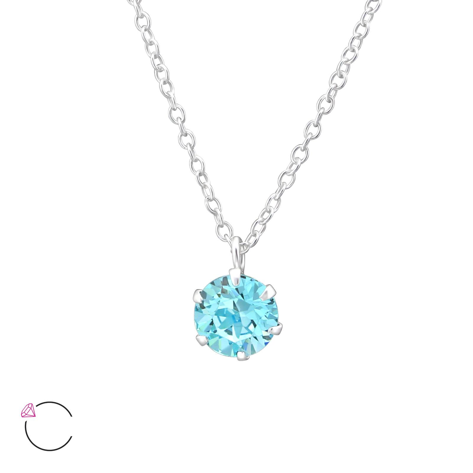 OLIVIE Stříbrný náhrdelník s krystaly Swarovski® 0978