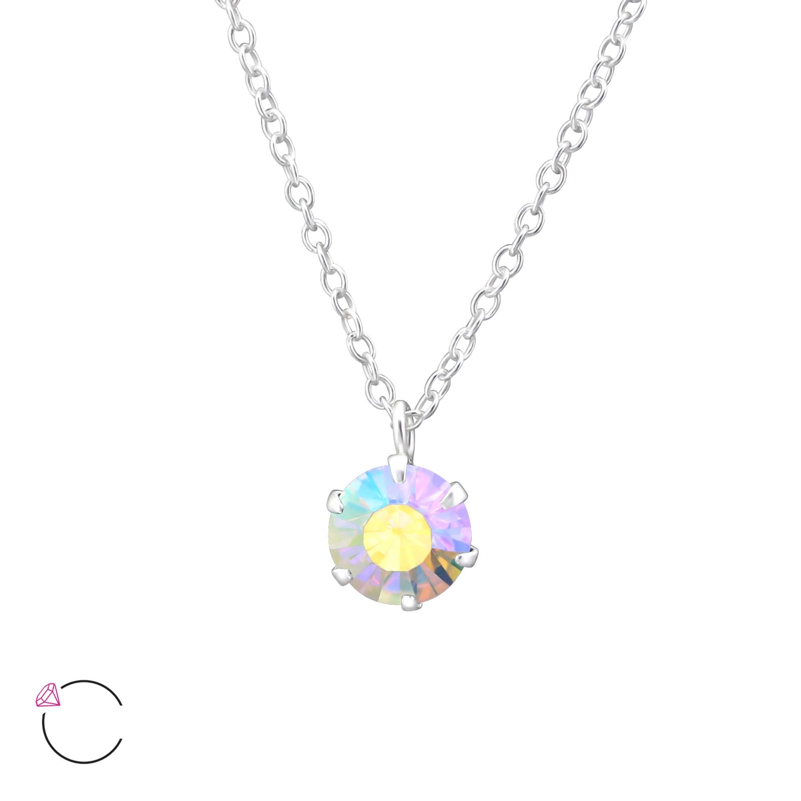 OLIVIE Stříbrný náhrdelník s krystaly Swarovski® 0979