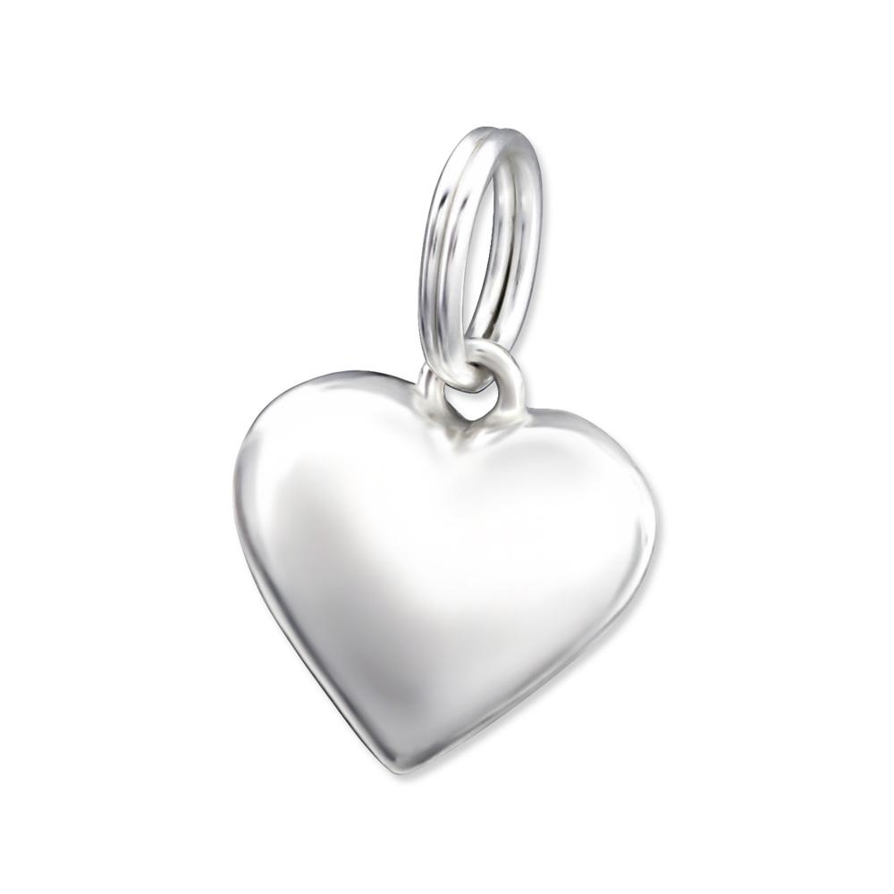 OLIVIE Stříbrné srdíčko s kroužkem 0996