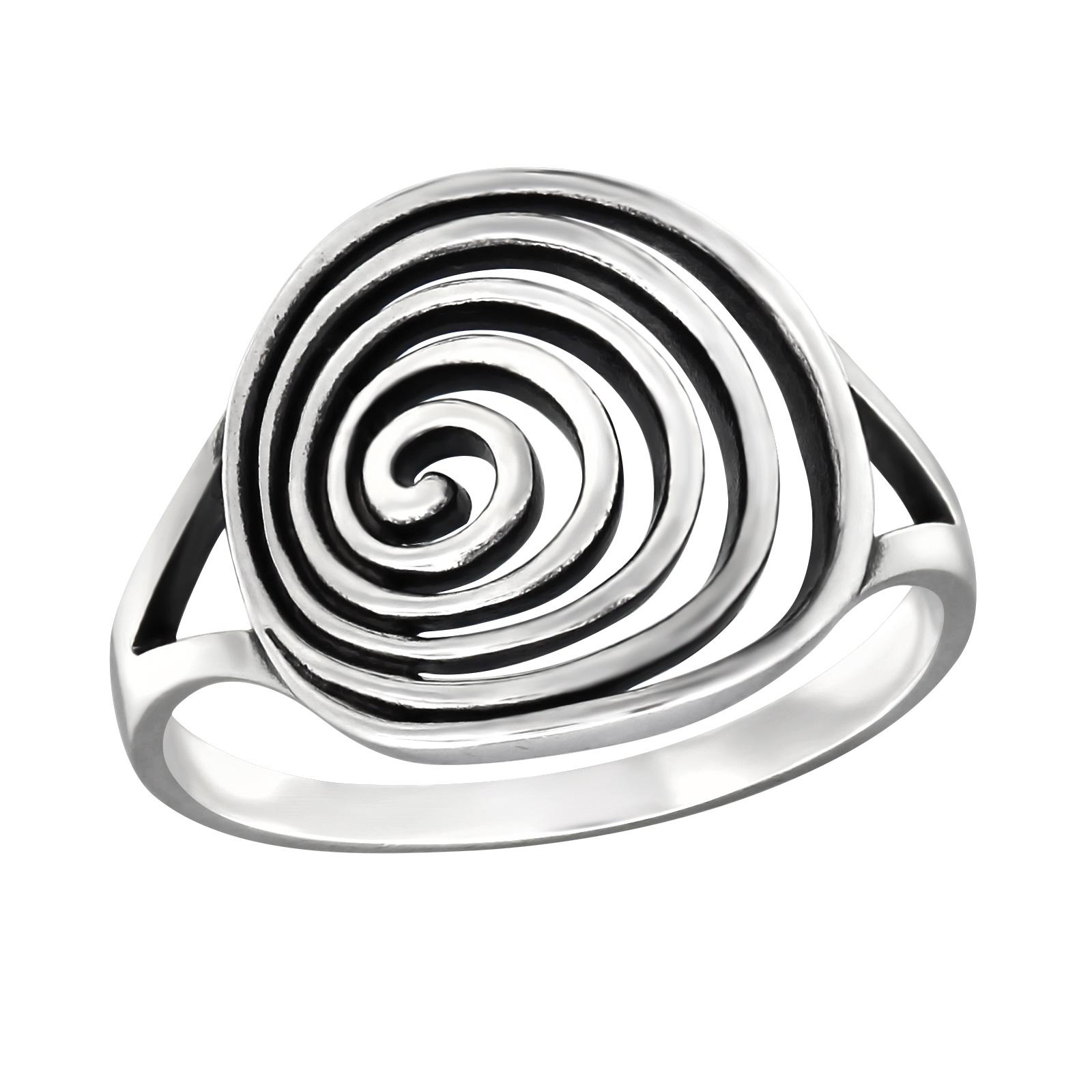 OLIVIE Stříbrný spirálový prsten 1020 Velikost: 5