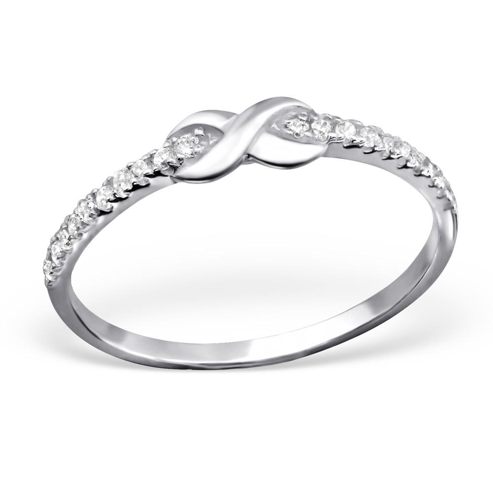 OLIVIE Stříbrný prsten NEKONEČNO 1026 Velikost: 5