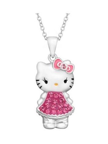 OLIVIE *PREMIUM* Stříbrný řetízek Hello Kitty 1052
