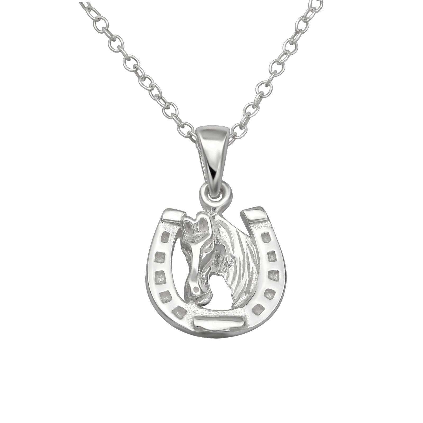 OLIVIE Dětský stříbrný řetízek PODKOVA 39cm 1156