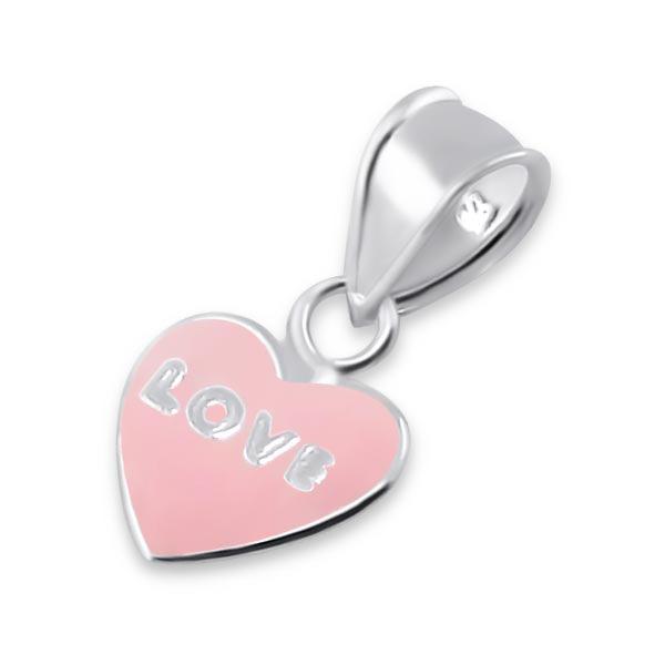 OLIVIE Stříbrný přívěsek SRDCE LOVE 1176